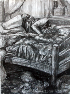 """The Weight of the World"", 38""x50"", charcoal, 2013"